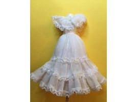 White frilled lacy dress