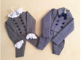 Little boy outfits on hanger - miniatures
