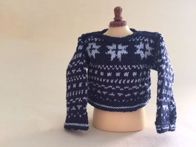 Pull over jacquard pour adulte