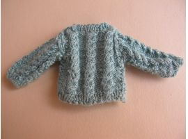 Cable sweater for a child
