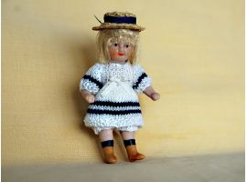 Little girl with a sailor outfit